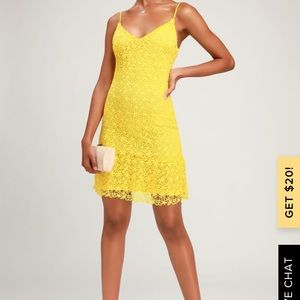 lulus yellow cocktail dress